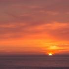 Zonsondergang bij Lange Anna op Helgoland