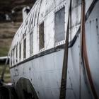 Vliegtuig in de spanbanden