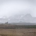 IJslands landschap met kerkje