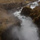 Waternevel van de Fjallfoss waterval